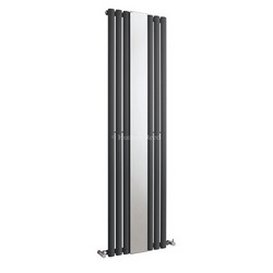 Revive Mirror Vertical Designer Anthracite Single Panel Radiator | HLA78