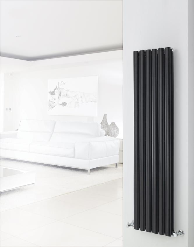 Hudson Reed Revive High Gloss Black Double Designer Radiator | HLB76