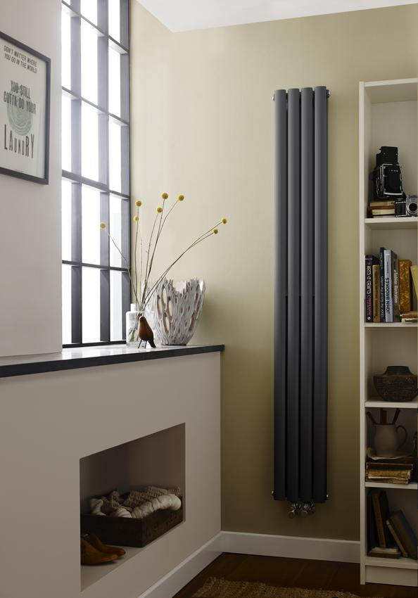 Hudson Reed Revive Double Compact Anthracite Wave Designer Radiator | HRE009