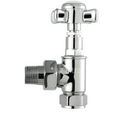 HudsonReed Victorian Chrome Crosshead Radiator Angled Valves HT336